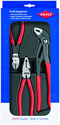 KNIPEX 00 20 10 Kraftpaket Länge, 365 mm, Attraktive Verkaufsverpackung mit SB-Lochung -