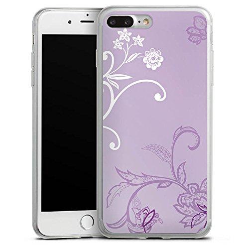 Apple iPhone X Slim Case Silikon Hülle Schutzhülle Ranken Blumen Muster Silikon Slim Case transparent