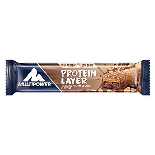 Multipower Protein Power Layer Bar Energieriegel mit 30{cc8a287718b91a55f384f17d82d36d8d16fc6fe99cceec8806d7c7cd621a9fca} Protein – Fitnessriegel à 50g – Proteinriegel als Sport-Snack – Eiweißriegel mit Erdnuss Karamel Geschmack – kalorienarmer Eiweißriegel