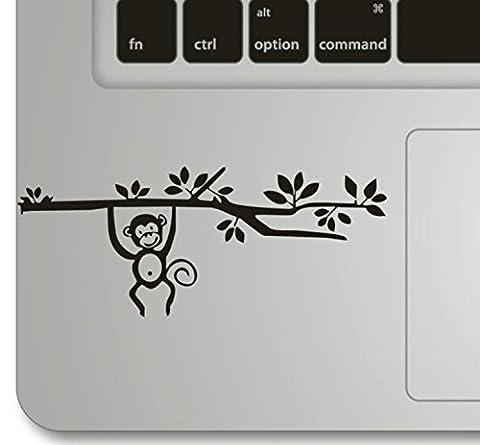Vati Blätter Removable Affe auf einen Baum klettern Humor Teilhandmade Art Haut kühler Entwurf Vinylabziehbild Aufkleber für Trackpad Tastatur des Apple Macbook Pro Air Mac Laptop