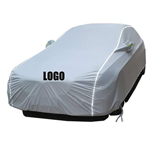 GQ Golf Car Cover Schattierung Isolierung Kleidung Mit Auto Logo Wasserdicht Atmungsaktiv Sonne Allwetter Schutz Anpassen Elastische Stoff Fit Golf (größe : Golf 7)