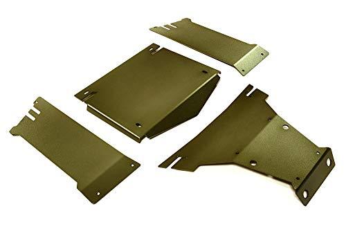 Integy RC Model Hop-ups C27662GUN Aluminum Alloy Body Panel Kit for Axial 1/10 Yeti Rock Racer Buggy - Rc-kit Yeti