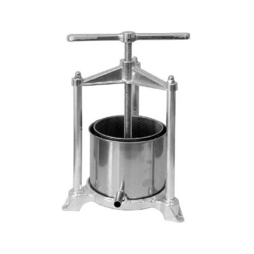 Torchietto premitutto da cucina in acciaio inox spremitutto torchio lt 5,5