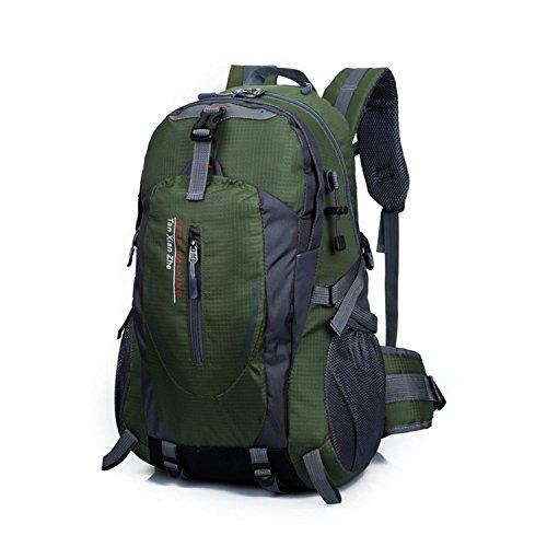 Sacchetto di alpinismo HWJF 40L borsa impermeabile del sacchetto di corsa del nylon dello zaino di svago delle spalle delle spalle , Orange yellow ArmyGreen