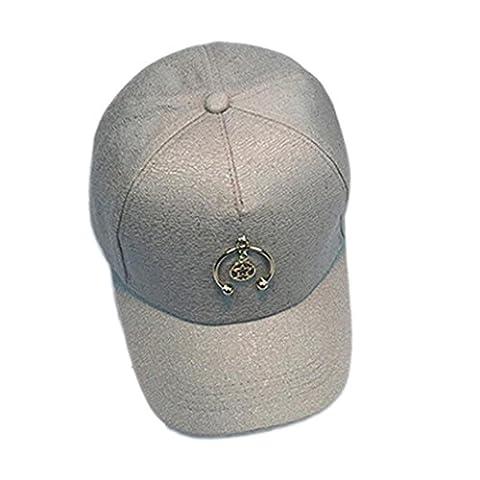 Baseball Cap Holeider Unisex Metall Ring Hysteresen Einstellbarer Hut (Silber) (Kind Blau-ara-kostüm)