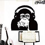 OJVVOP Diseño De Pegatinas De Decoración del Hogar Vinilo César Mono Música Etiqueta De La Pared Aumento del Planeta De Los Simios Orangután Decoración 58 * 63 Cm