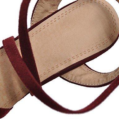 LvYuan Sandalen-Kleid Lässig-Vlies-Blockabsatz-Komfort-Schwarz Rot Grau Red