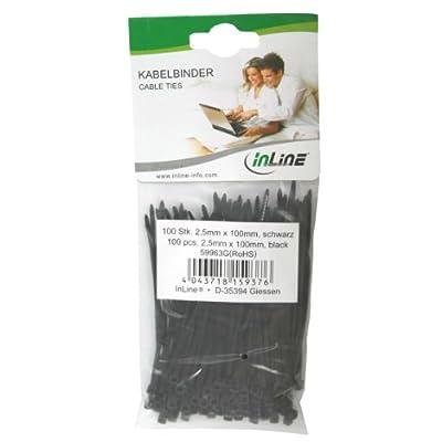 InLine Kabelbinder, Länge 100mm, Breite 2,5mm, schwarz, 100 Stück von InLine® auf Lampenhans.de