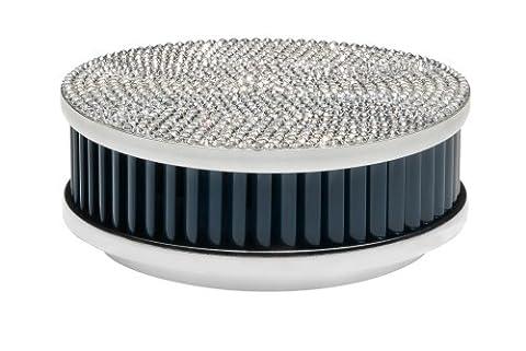 Pyrexx PX-1 Smoke Detector Shiny Silver/Navy Blue with Swarovski Elements