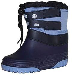Kinder Schneestiefel warm gefüttert mit Galosche OPTIMALER KÄLTE NÄSSE Schnee Schutz wasserdicht Gr. 21/22 Navy blau
