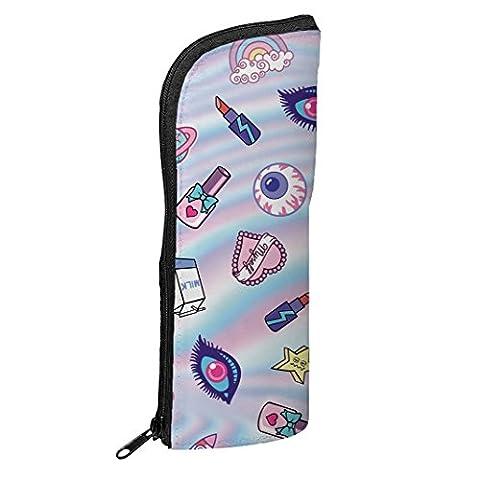 Fringoo® Federmäppchen für Jungen und Mädchen, transformierbar, Stifte-Beutel, Emoji, Schule, Organizer Cute Patch Holo - Transformer