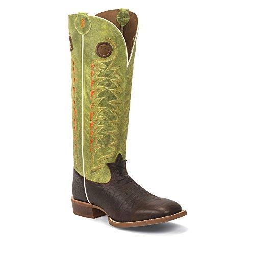 Tony Lama  3R1028, Bottes et bottines cowboy homme Multicolore - Choco Verde