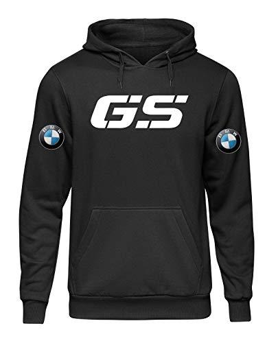 Felpa con Cappuccio e Tasca Stile Fan BMW GS Rally Auto Racing Moto GTA Nera Non Ufficiale COLT28 (XXL)