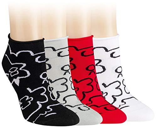 Damen Diabetiker-quarter Socken (Vitasox 15286 Damen Socken Kurzsocken Baumwolle bunt Rollrand Sneakersocken ohne Naht ohne Gummi 6 Paar 39/42)