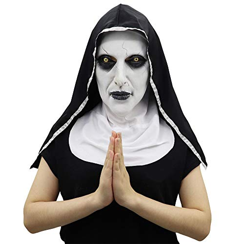 Kostüm Up Dress Schwangere - LXVY Halloween Nonne Kostüm Für Damen, Halloween COS Terrorist Sisters Mask Party Dress Up