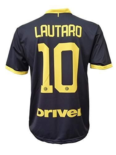 L.C. SPORT Terza Camiseta Inter Lautaro Martinez 10 Réplica Autorizada Niño Tallas 2 4 6 8 10 12...