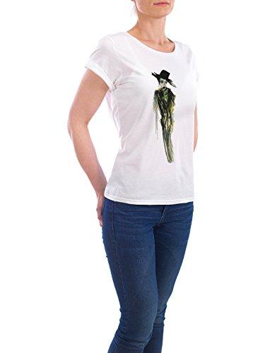 """Design T-Shirt Frauen Earth Positive """"Gabriel"""" - stylisches Shirt Abstrakt Fashion von Sandrine Pagnoux Weiß"""