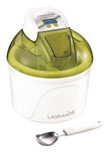 Lagrange 409001Eismaschine 12W LCD-Display Behälter 1,5l pistazie