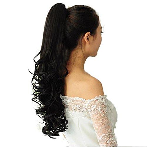 PRETTYSHOP Haarteil Hair Piece Zopf Pferdeschwanz ca 60cm Hitzebeständig wie Echthaar div. Farben H48