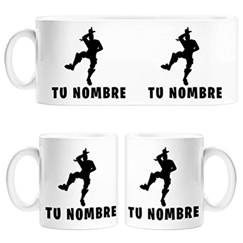 Taza Fortnite pose Take The L baile Loser personalizable con nombre - Cerámica