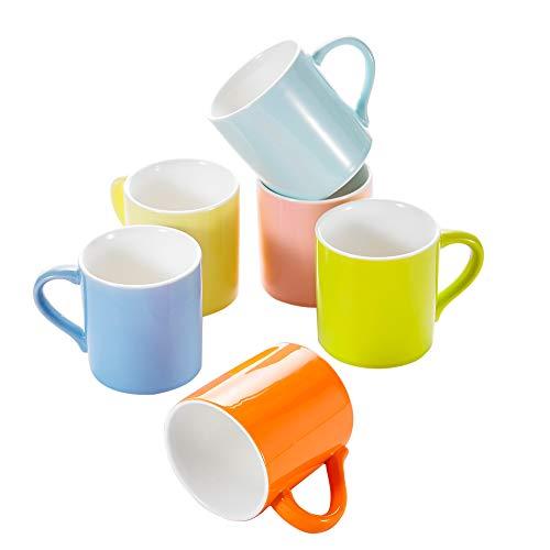 Panbado Porzellan Tasse Set Kaffee Tee Wasser Cup Keramik Becher-Set, porzellan, 4.25