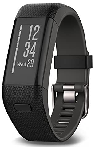 Garmin Activity Tracker vivosmart GPS plus HR WW Black, M - L, 010-01955-30