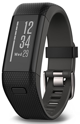 Garmin vívosmart HR+ Fitness-Tracker - GPS-fähig, Herzfrequenzmessung am Handgelenk, Smart Notifications Black, M - L, 010-01955-30