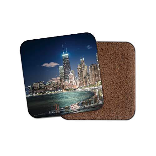 Chicago City Untersetzer - Illinois Willis Tower Skyscraper USA America Geschenk #12389
