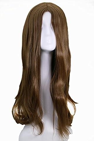 Natasha Romanoff Perruque Black Wig Cosplay Costume Longue Cheveux Hair Accessoires