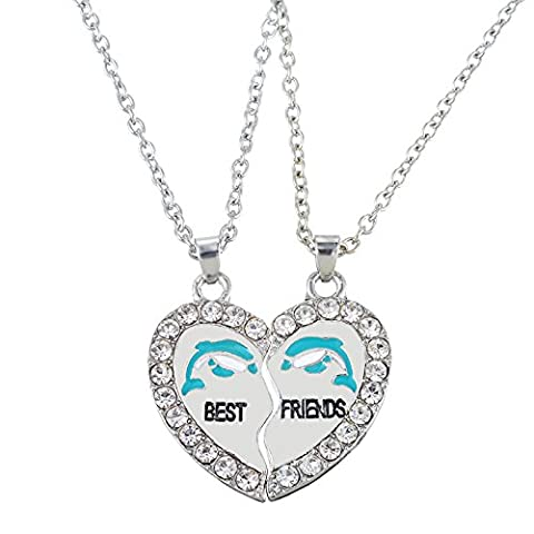 HOUSWEETY 2 Pcs Collier d