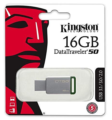 Kingston DT50 64GB USB 3.0 Flash-Laufwerk mit schwarzem Kordel (Patriot-flash-laufwerk-64)
