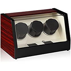 Luxwinder Unisex Zubehör Uhrenbeweger für 3 Automatikuhren makassar powered by Modalo verschiedene Materialien mehrfarbig 8003622