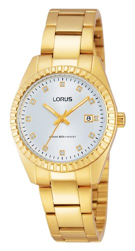 Lorus Ladies Watch XS Classic Analogue Quartz Stainless Steel Coated RJ282AX9