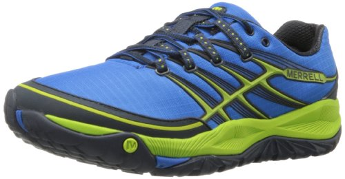 Merrell Allout Rush, Chaussures de sports extérieurs homme Multicolore (Blue/Lime)