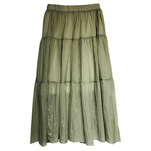 Amphia - Rock Damen,Frauen-Sommer-Weinlese-hohe Taillen-Röcke Weiblicher eleganter Rock