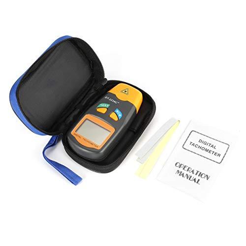 Banbie8409 DT2234C + LCD Digital Mini Berührungsloser Drehzahlmesser für Foto-Tachometer (Grau & Orange)