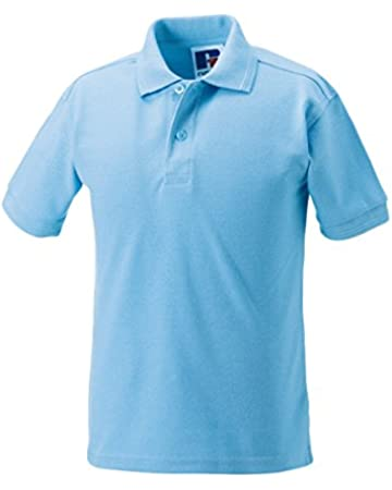 Mr.Caller Unisex Kids Boys//Girls Polo T-Shirt Shirt Tops Children Age 3-14 Years Summer School Uniform Sports Casual P.E Class