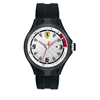 Reloj Ferrari 830001 de cuarzo para hombre, correa de silicona color negro de Ferrari