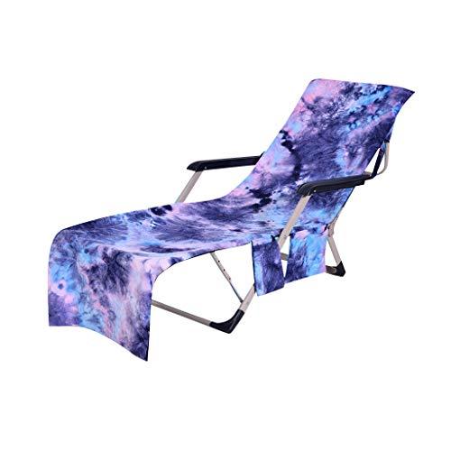 Dkings Strandkorbbezug, Chaise Lounge Handtuchüberzug für Pool, Sonnenliege,Hotel Urlaub mit Aufbewahrungstaschen,Handtuch Strandkorbüberzug Chaise Lounge für Poolsonnenliegen, 82.5 ''x 29.5'' (Blue) -