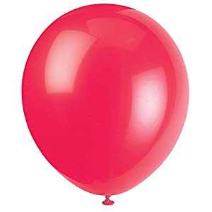 Unique Party Globos de Fiesta de Látex, Paquete de 72 Color rojo rubí 12 cm 52305