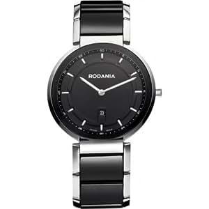 Rodania Swiss - RS2506146 - Montre Homme - Quartz Analogique - Bracelet Céramique Noir