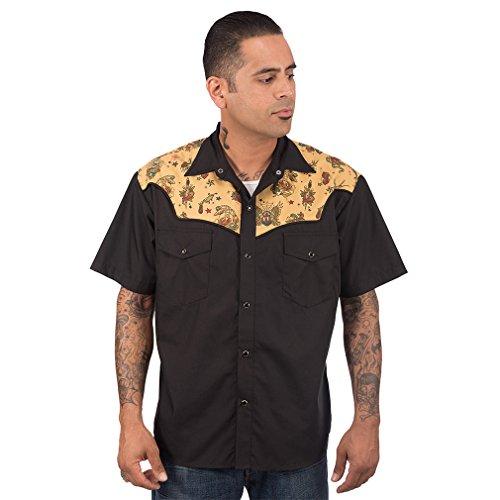 Steady Clothing Western Hemd - Tattoo Flash M