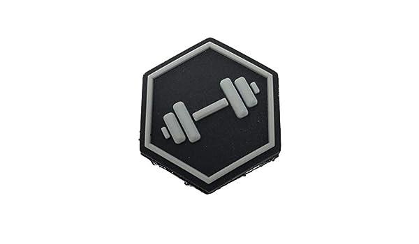 TACOPSGEAR Hexpatch Fitness Dumbbell Hantel Patch 2.5x2.5cm f/ür Hexgrid Waben