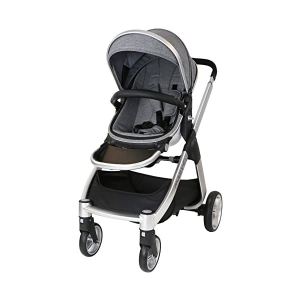 Marvel 2in1 Pram - Dove Grey (+ x2 Footmuff + x1 Car Seat Raincover) iSafe Includes Free Carseat Raincover + Carseat Footmuff + Stroller Footmuff Complete With Free Raincover For Seat Unit Complete With Free Boot Cover 4