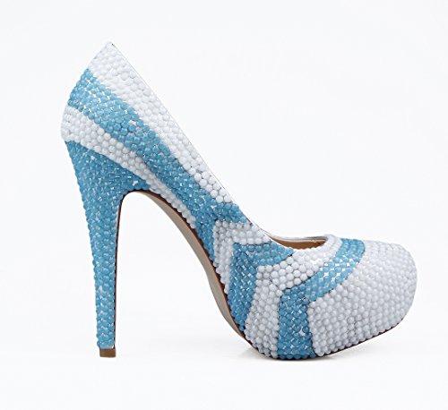 TDA - Scarpe con plateau donna White/Blue