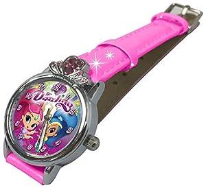 Shimmer And Shine- Reloj de Pulsera Aloy aro Brillantes (SH17091), (Kids Licensing 1)