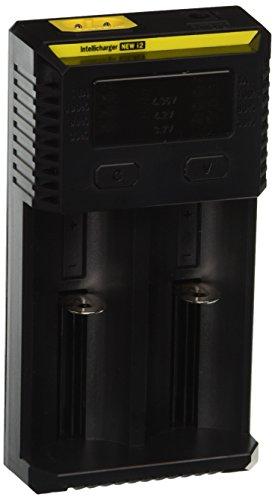 NiteCore i2 Intellicharge per 2 Batterie Li-Ion o Ni-MH, 2016 Versione con Caricabatteria da Auto, 8 W, 240 V, Nuov