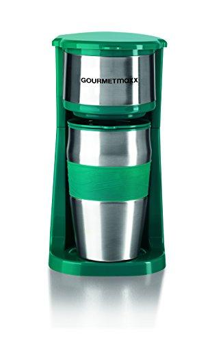 gourmetmaxx-09708-kaffeemaschine-mit-thermobecher-750-watt-single-kaffeemaschine-450ml-becher-smarag