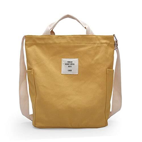 Orange Canvas Schuhe (Maleya Canvas Tasche Damen Umhängetaschen Handtasche Vintage Handtasche Canvas Schultertasche Casual Tasche Damenmode Einfache einzelne Schulter Messenger Bags Canvas Bag)