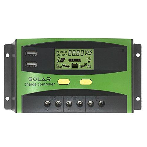 Giaride 20 A Solar Charge controller 24 V 12 V PWM Solar Panel batteria intelligente regolatore controller con porta USB e LCD Dsplay